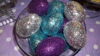 Блестящи великденски яйца