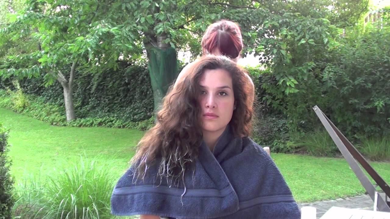 Омбре прическа чуплива коса видео