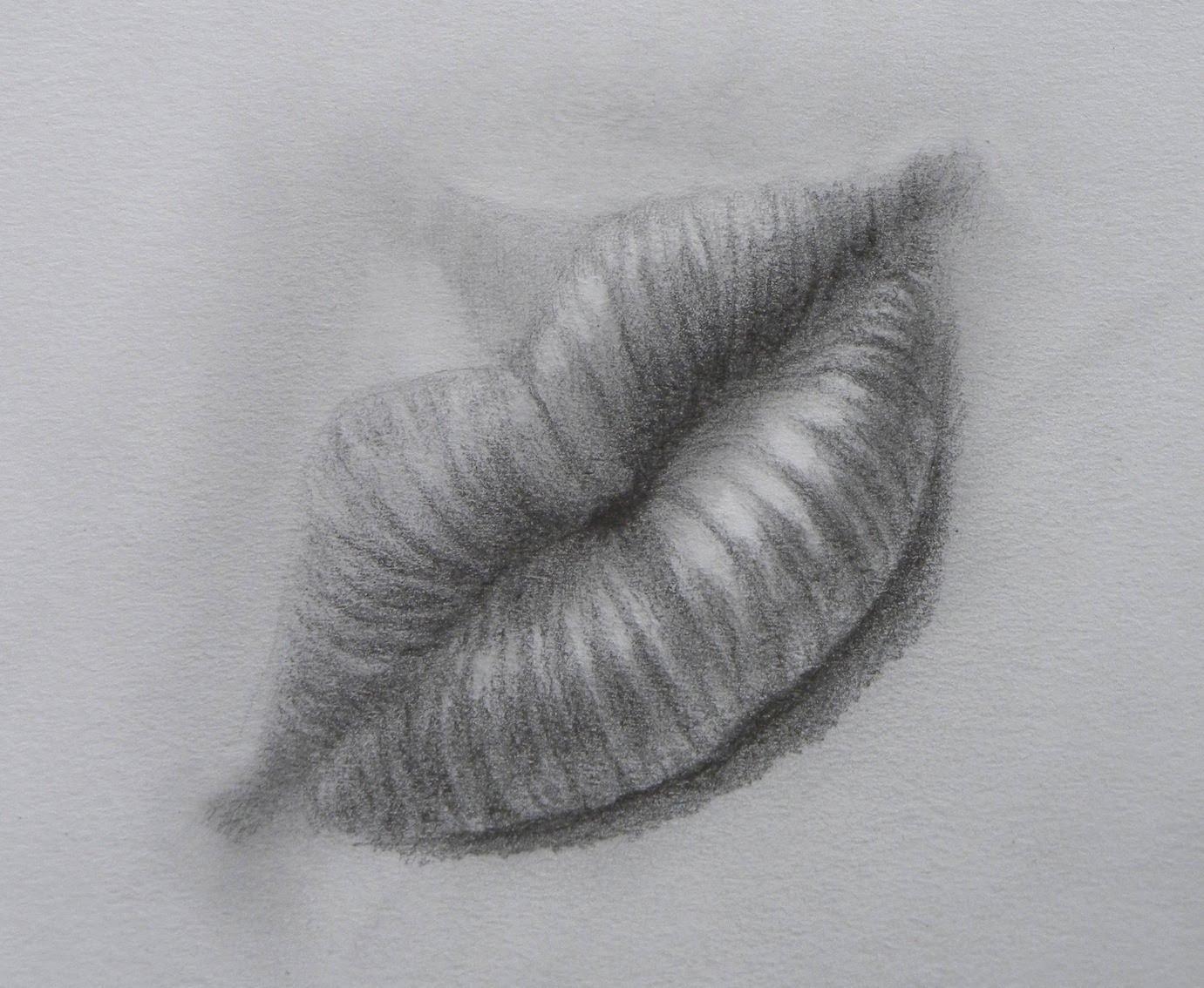 Как се рисува реалистична уста