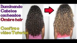 Омбре прическа за къдрава коса