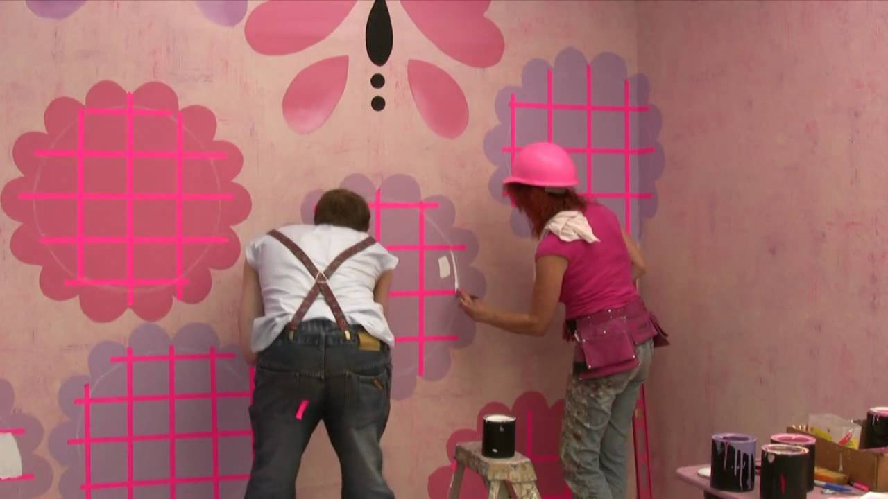 Как да изрисуваме цветя на стените - част 2