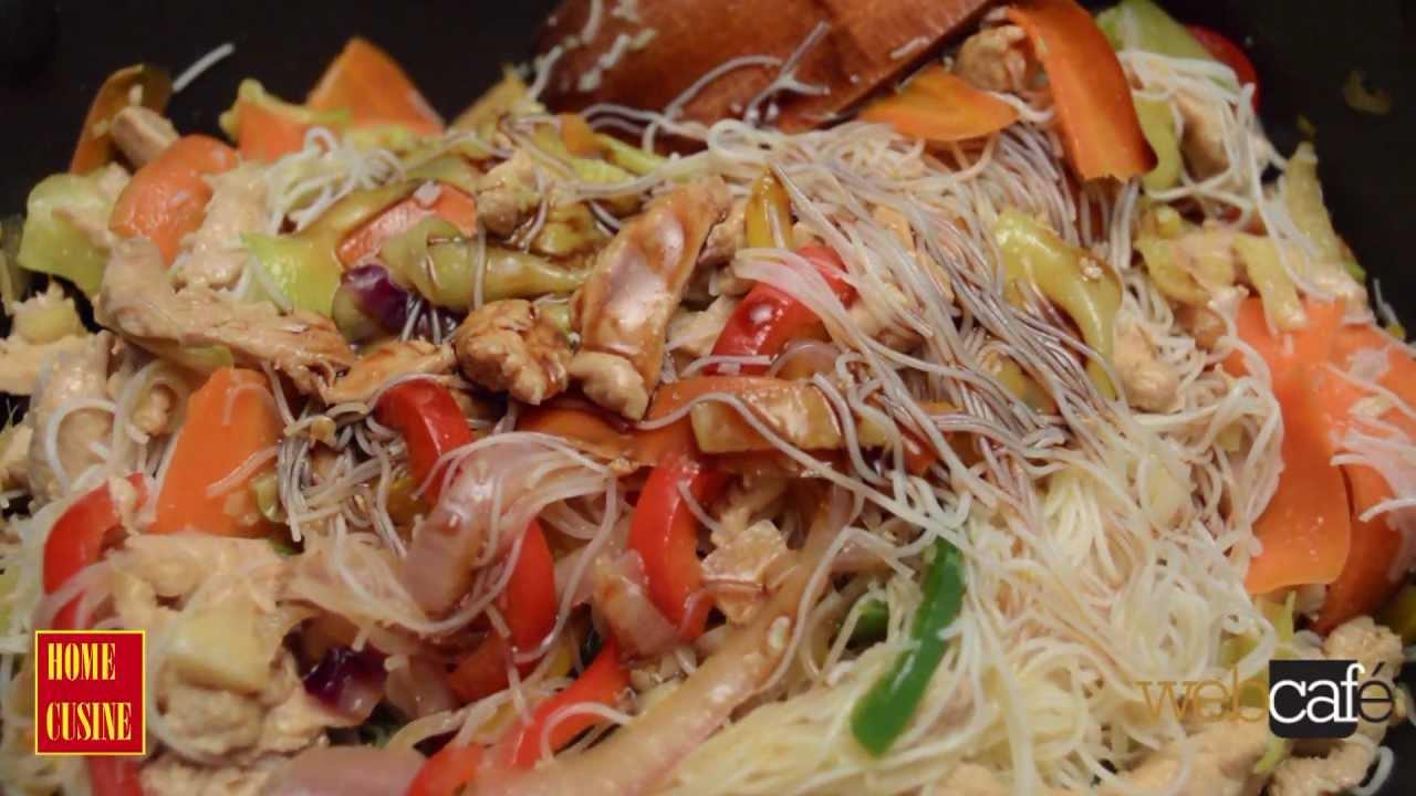 Лесна рецепта за пиле с оризови спагети