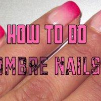 Омбре нокти в розово