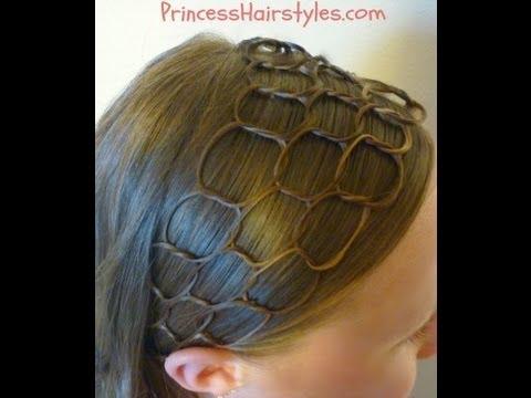 Прическа с лента за коса