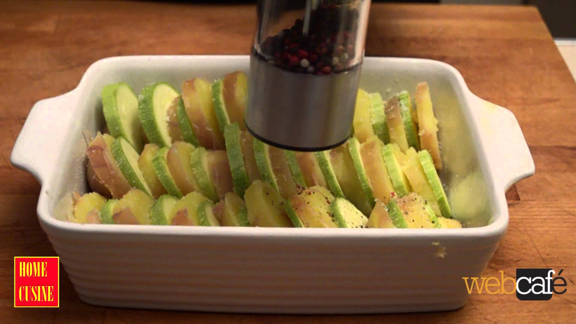 Как се прави огретен с картофи и тиквички