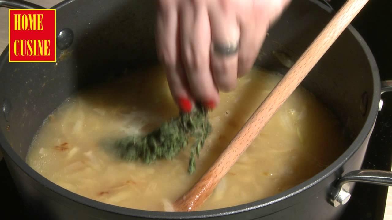 Как се приготвя френска лучена супа