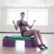 Упражнение Колело с докосване на пръстите на краката