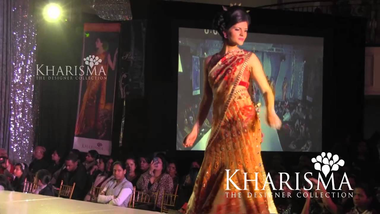 Kharishma Saree Модно шоу булченски рокли 2013