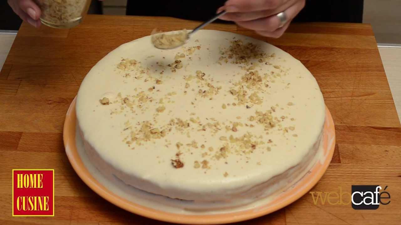 Лесна торта с крема сирене и банани