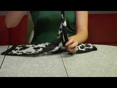 Как да си направите чанта от шал