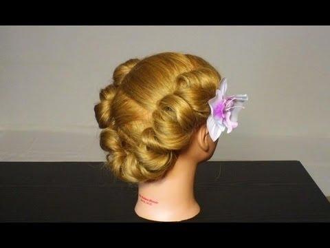 Елегантна прическа за средна коса
