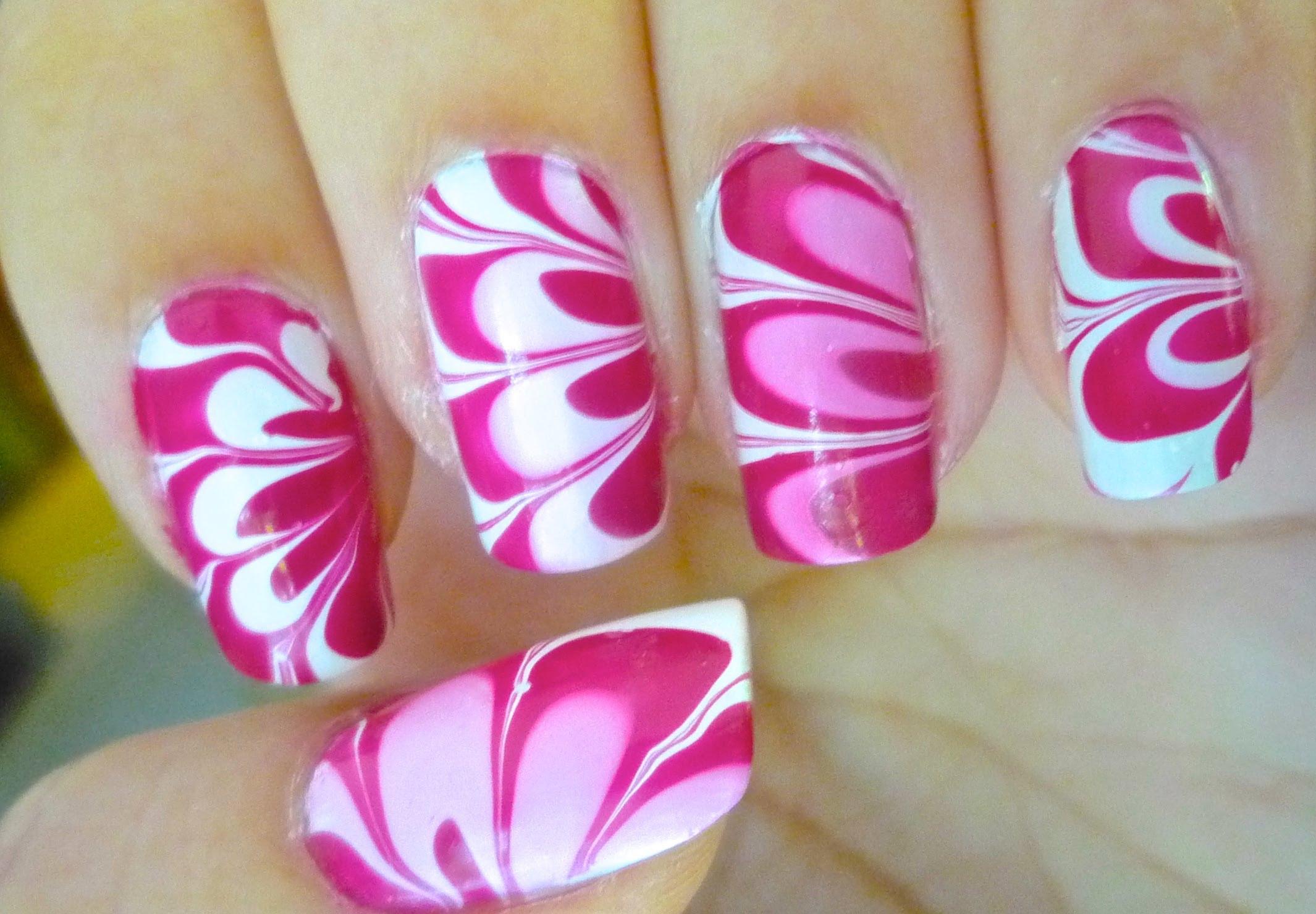 Мраморен лак Розово цвете