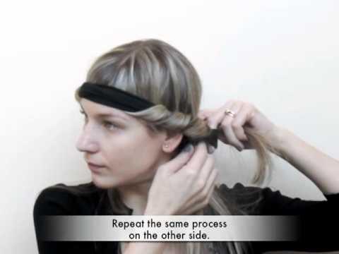 Как да си накъдрите косата с лента за коса