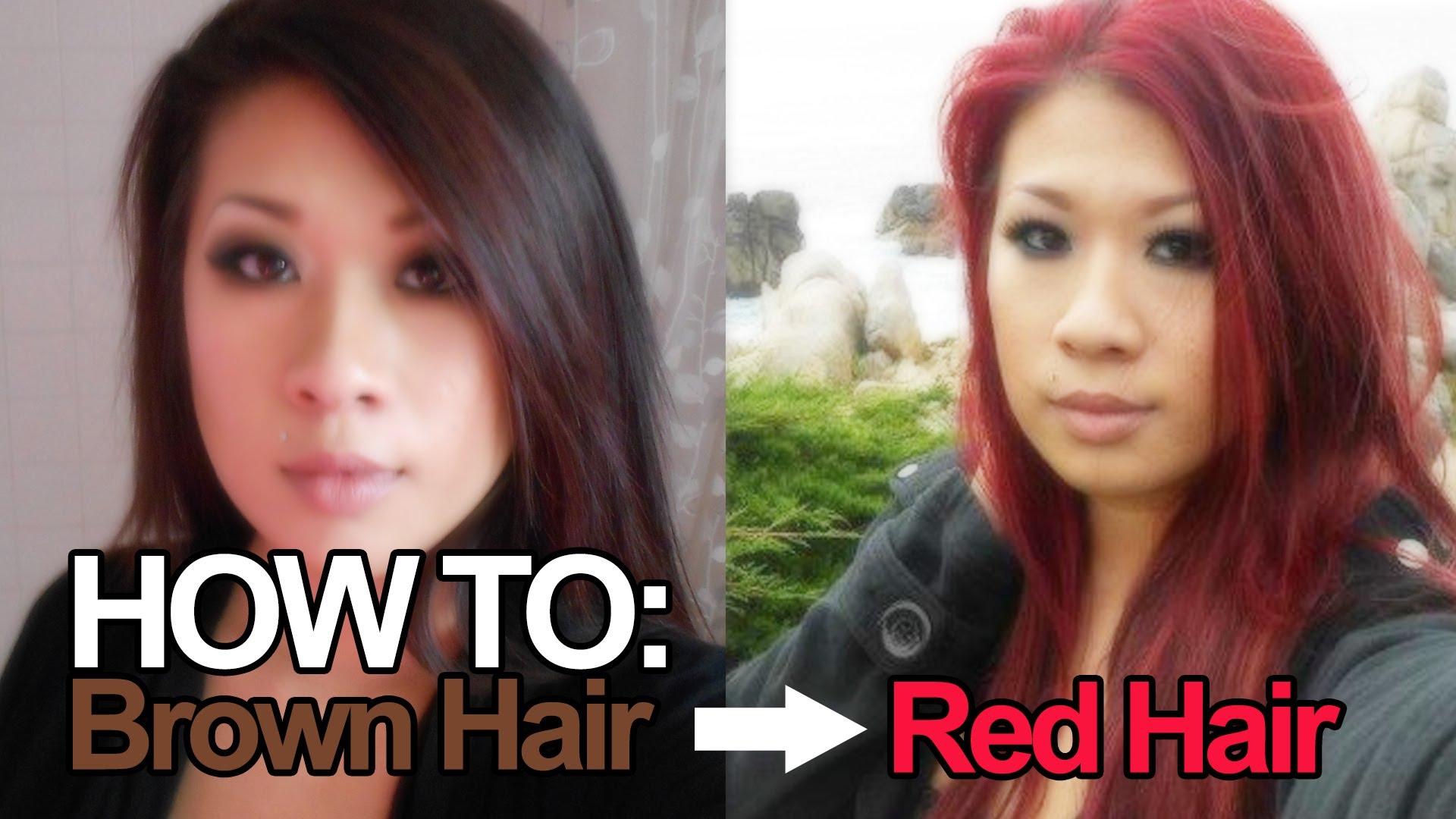 Как да си боядисаме косата от кафява в червена