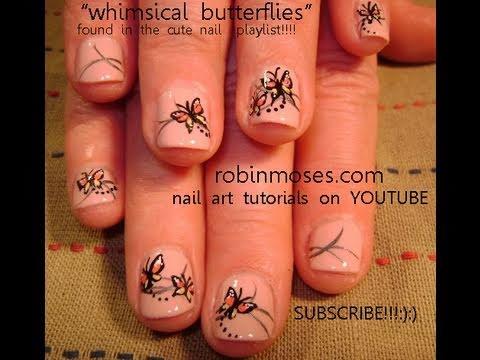 Лак с красиви пеперуди