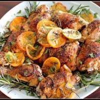 Печено пиле с билки и цитрус