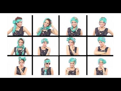 12 начина да вържем шал на главата за 7 минути