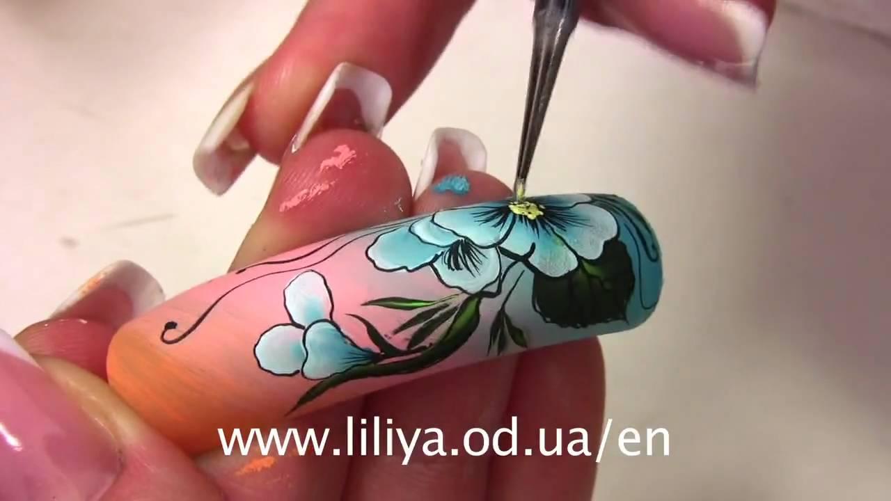 Пролетни цветя с акрил