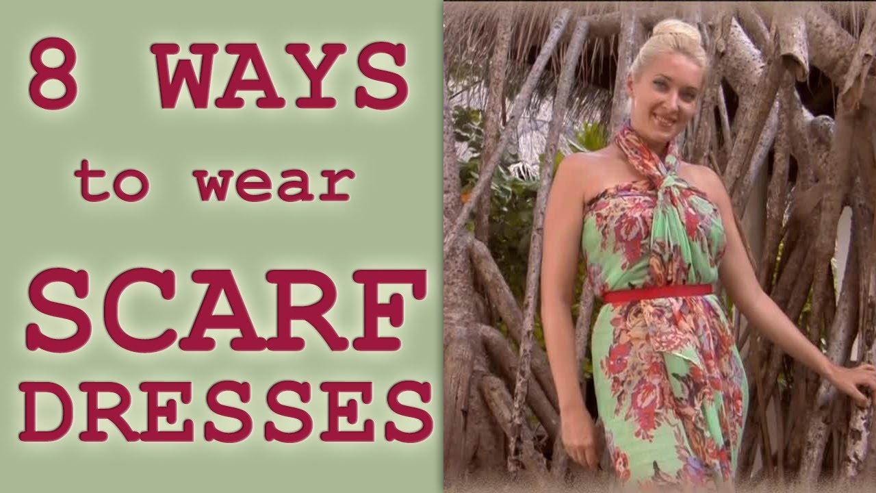 Как да си направим плажна рокля от шал