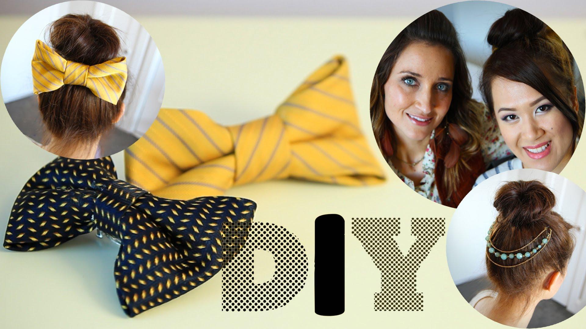 Как да си направим украса за коса панделка