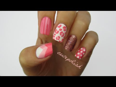 Красиви нокти в розово