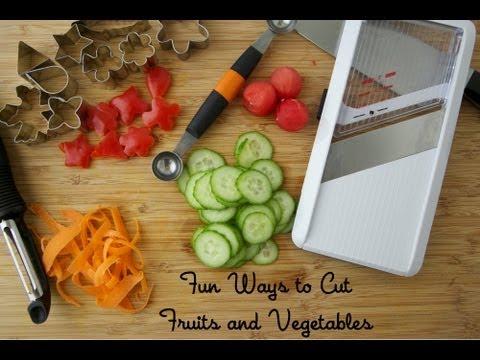 Забавен начин да нарежем плодовете и зеленчуците