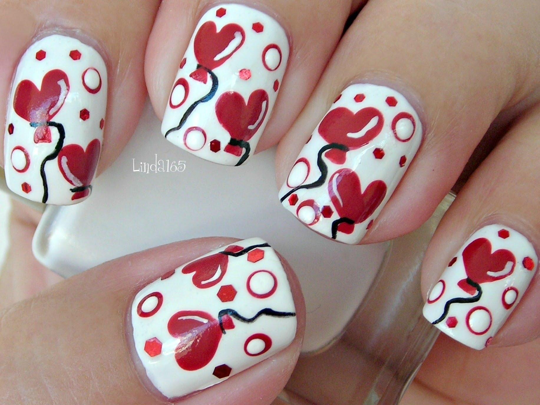 Лак със сърца и балони за Св. Валентин
