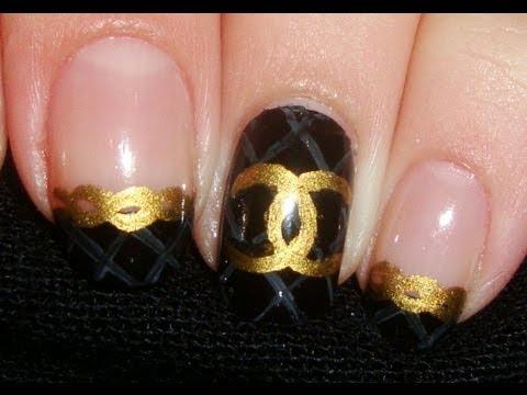 Chanel лак в златно и черно