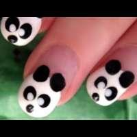 Сладка и лесна панда на ноктите