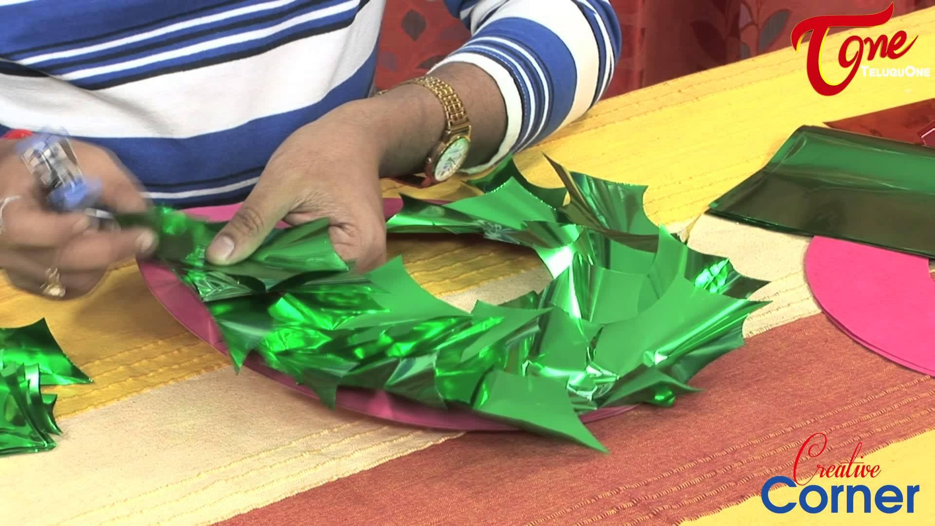 Коледна украса от цветна хартия