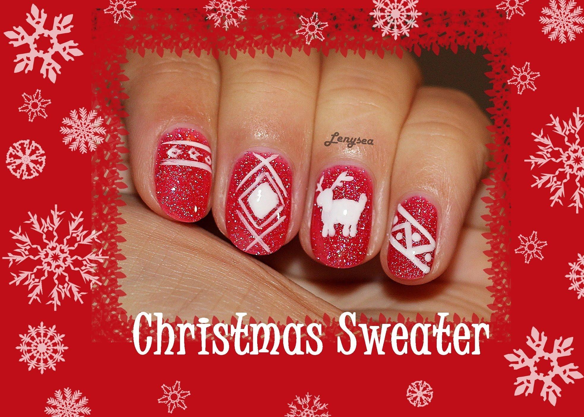 Лак като Коледен пуловер за къси нокти