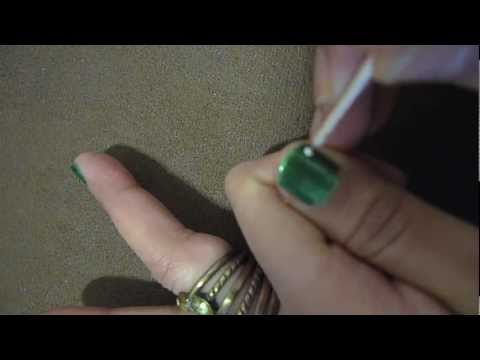 Флорален лак за къси нокти