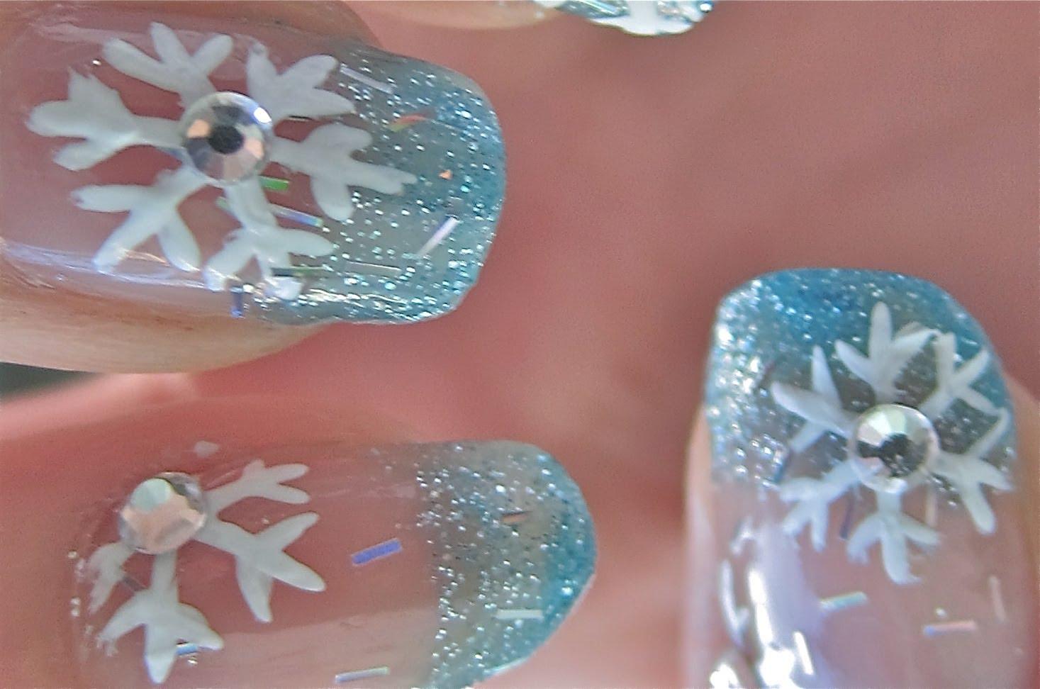 Лак с Коледни снежинки