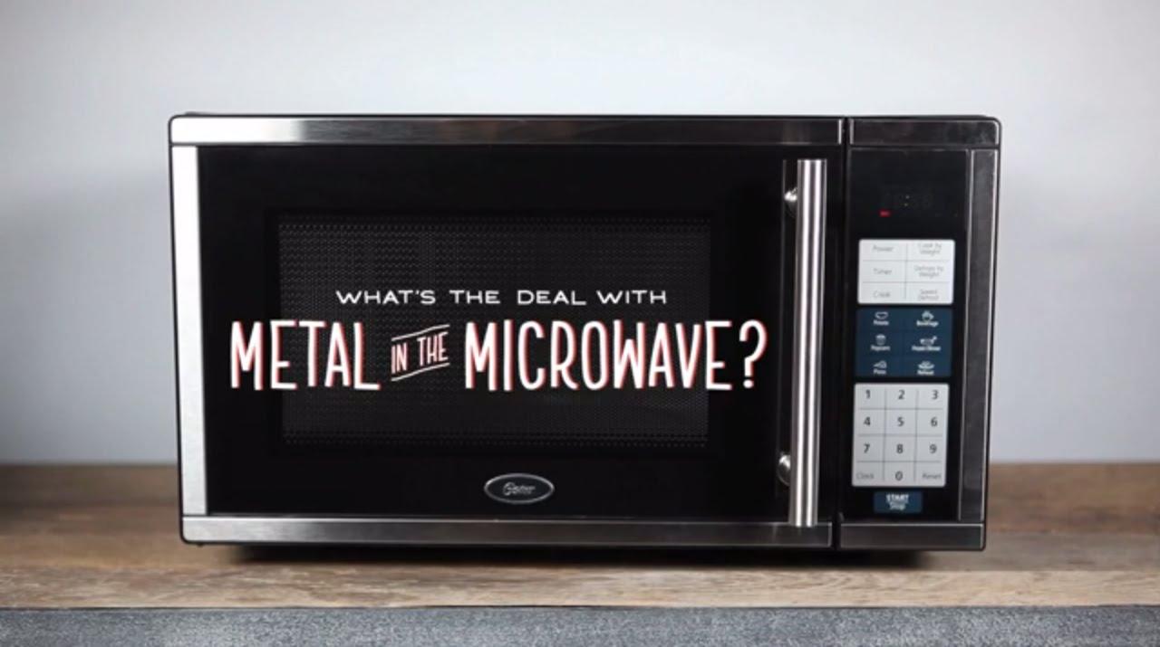 Какво се получава, когато поставим метал в микровълнова
