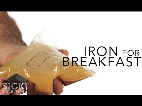 Как да проверим има ли желязо в хранта?