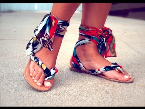 Как да си направите сами тези модерни сандали за 5 минути