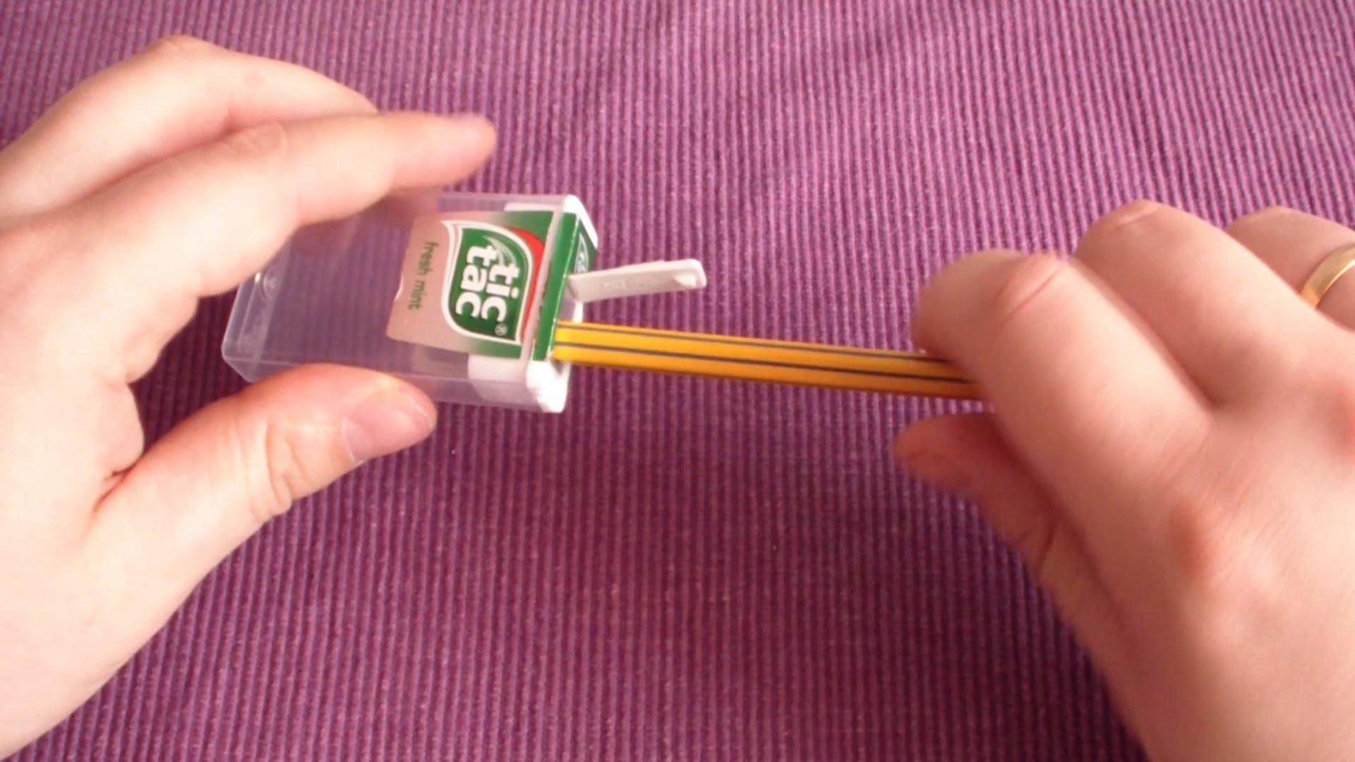 Как да си направим кутийка за острилка от тик-так?