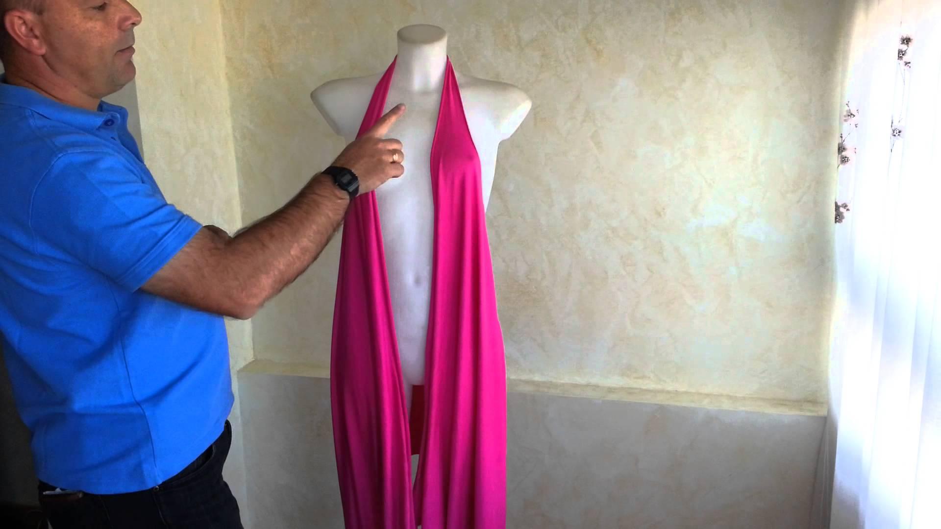 Модерна рокля без шиене