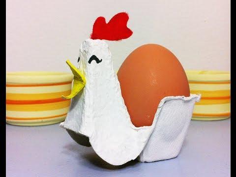Направете оригинална поставка за яйца само за 5 минути