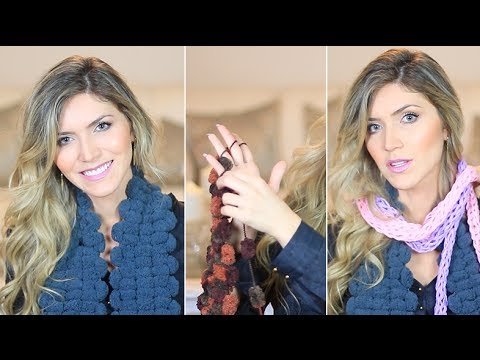 Как да си изплетете шал с ръце и прежда