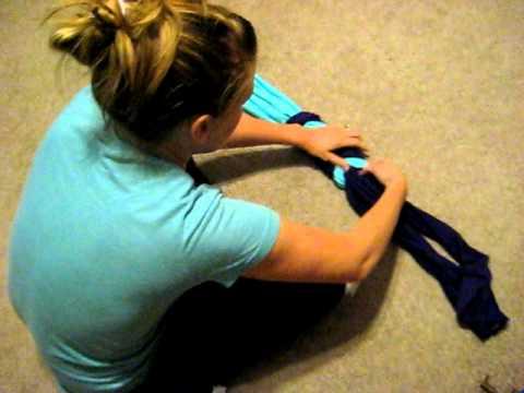 Как се прави двуцветен шал