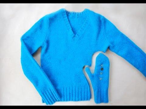 Как се правят ръкавици от пуловер