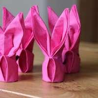 Великденска украса - салфетки зайче
