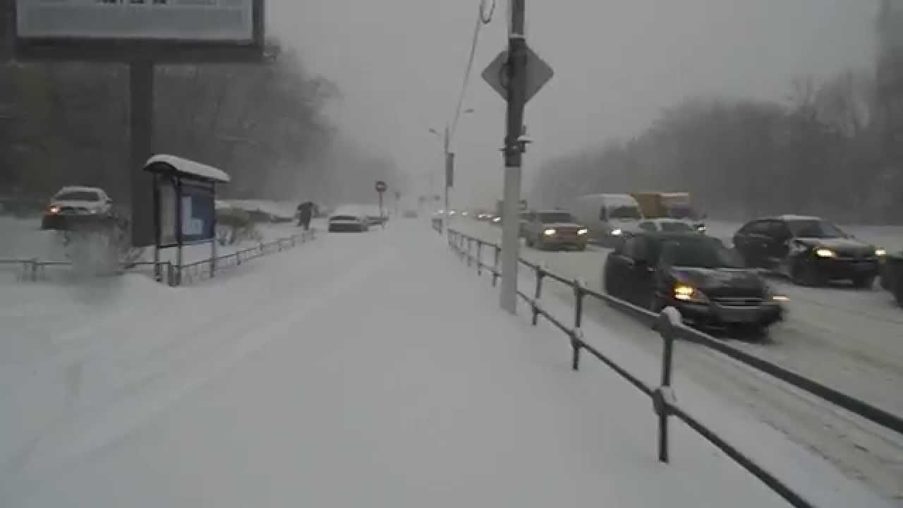 Снежни бури в Москва