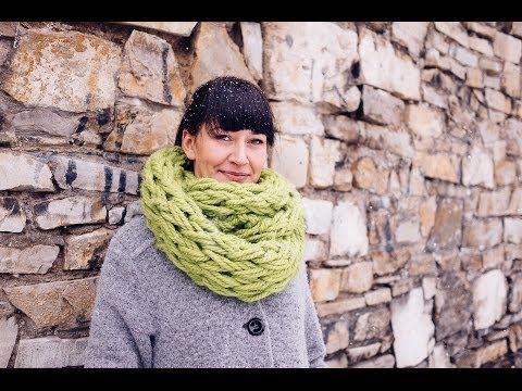 Плетене на шал без игли