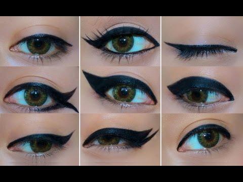 9 различни начина за поставяне на очна линия