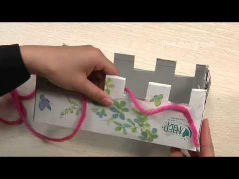 Как се плете топъл шал с картонена кутия?