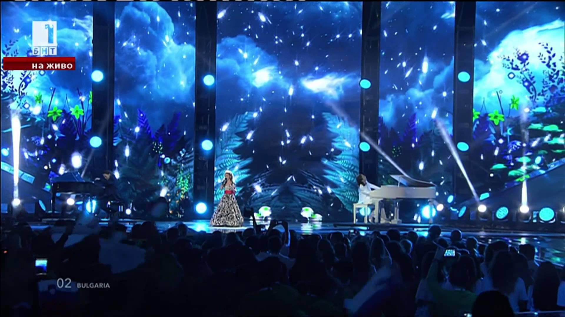 Крисия, Хасан и Ибрахим в детската Евровизия - видео
