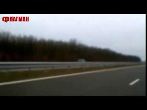 Жена кара в насрещното на магистрала