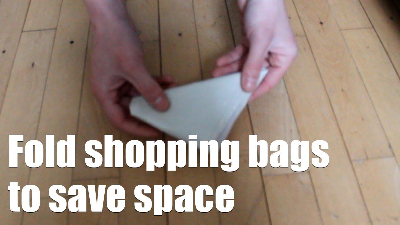 Как да сгъваме пластмасова кесийка